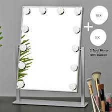 mrah hollywood makeup vanity mirror white lighted makeup mirror tabletops lighted mirror led illuminated