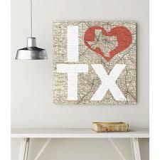 i love texas canvas wall art