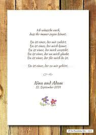 Druckwandbildprint Segenswunsch Hochzeit Sprüche