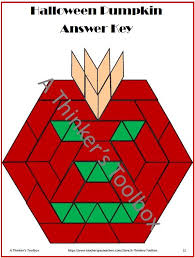 Pattern Block Template Cool Pattern Blocks Holidays Puzzles In 44 It's About Time For
