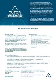 back end developer tutor wizard xpressjobs lk job image