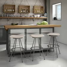Kitchen:Unique White Contemporary Leather Kitchen Bar Stools With Steelbase  White Bar Stools Silver Metal