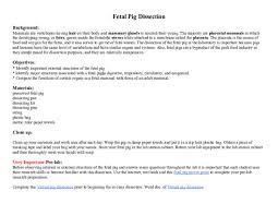 Doc Fetal Pig Dissection Background Alvin Resurreccion