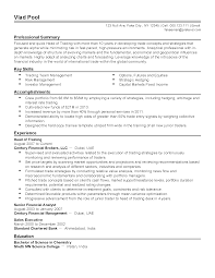 Prepossessing Prop Trader Resume Sample With Options Trader Resume