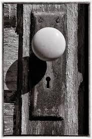 Antique Photograph - Rusty Old Door Knob by Steve Hurt
