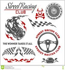 Car Racing Shirt Designs Car Racing Badges And Elements Graphic Design For T Shirt