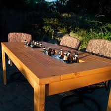 Cool patio furniture ideas Wicker Diy Patio Table With Builtin Beerwine Coolers The Ownerbuilder Network Diy Patio Table With Builtin Beerwine Coolers The Ownerbuilder