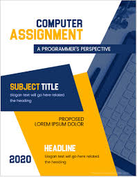 Computer Assignment Cover Page Templates for MS Word | MS Word Cover ...