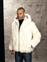 mens fake fur coat genuine rabbit fur hooded jacket white mens faux fur coats mens fake fur coat