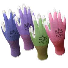 6 pack showa atlas nt370 atlas nitrile garden gloves large assorted colors nitrile nylon fits xlarge size large for black 370 l itembymobileoutle