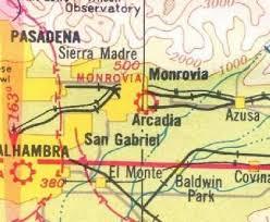 1939 La Sectional Aeronautical Chart Deco Era Maps East