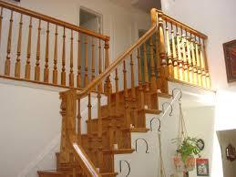 ... Inspiring Wooden Stair Railing Wrought Iron Handrails Dark Brown Wooden  Stair Railing With White