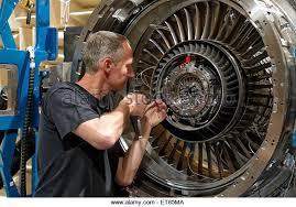 wildau germany an aircraft mechanic in the anecom aerotest gmbh stock image turbine engine mechanic