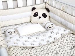 teddy bear crib sheet modern panda organic cot bedding set