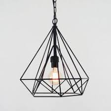 wire pendant lighting. Plain Lighting Abstract Shaped Piramid Cage Wire Pendant Lights Made From Black Metal With  Chain Basic Bulb And Lighting