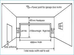 standard double car garage door dimensions wageuzi
