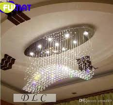 fumat new curve flush mount crystal modern chandelier ceiling light contemporary crystal lighting l800 w200 h500mm diy chandelier mason jar