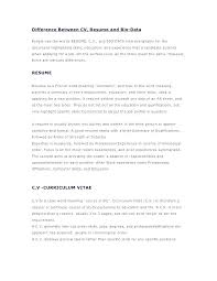 Resume Bio Example Cool Resume Bio Example Examples Data And Template Samples Free