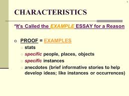 illustration example essay characteristics also known as o  6 6 characteristics it s called the example essay