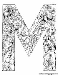 Free Printable Colouring Initials Each Initial Is Filled With