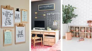 Diy office decorations August 15 Diy Office Decor Ideas Thatll Make You More Productive And Organized Mostly Julia 15 Diy Office Decor Ideas To Be More Organized Mostly Julia
