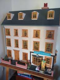 where to buy miniature furniture. Georgian Style Doll\u0027s House With Grocery Shop Where To Buy Miniature Furniture