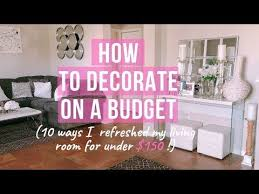 living room on a budget