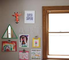 Childrens Artwork Display A Creative Way To Display Childrens Artwork The Chirping Moms