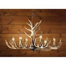 glamorous real antler chandelier 14 210035 ts