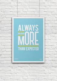motivational posters for office. Always Deliver More | Blue Motivational Poster Office Art - Startupzap Posters For
