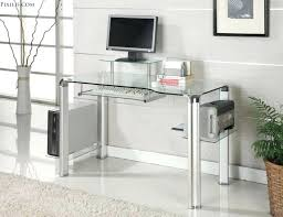 glass desk with drawers enchanting ideas keyboard drawer for top desks design white hanging lacquered c