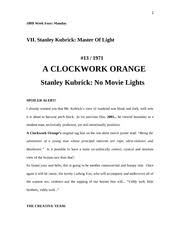 a clockwork orange essay a clockwork orange good riddance to bad  20 pages