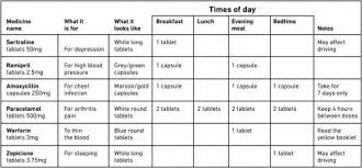 Patient Medication Chart Sample Www Bedowntowndaytona Com