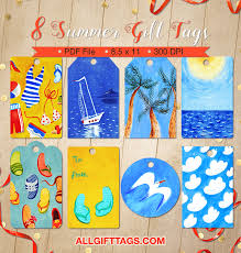 Summer Gift Tags Summer Gift Tags