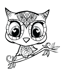 Coloring Pages Owl Coloring Pages Colored Great Horned Page