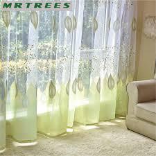 Byetee Hellgelb Wohnzimmer Fenster Vorhang Modernen Schiere Tüll
