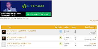 ask me any entrepreneur questions you have th ian fernando entrepreneurfix