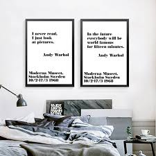 Andy Warhol Quotes Gorgeous Black And White Art Canvas Painting Posters PrintsAndy Warhol