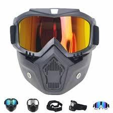 <b>Motorcycle Eyewear Motorcycle</b> Bike Helmet <b>Goggles</b> Detachable ...