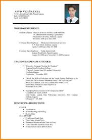 Resume Format Sample Optional See Job Application For Examples And