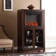 middleton celia espresso electric fireplace storage tower