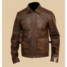 indiana jones harrison ford brown leather jacket distressed leather jacket