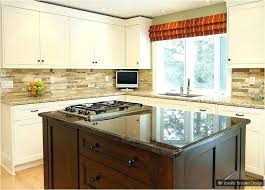 beige backsplash white cabinets. Beige Subway Tile Classy With White Cabinets Yellow Cabinet Ornamental Backsplash Light To