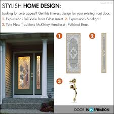 front door design diy project expressions full view door glass insert and sidelight with yale