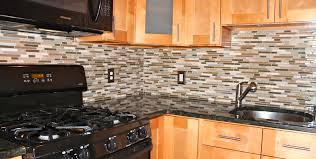 Glass Mosaic Tile Backsplash Photo