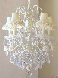 shabby chic lighting fixtures. Lighting Fixtures , Lovely Shabby Chic Chandeliers : With Flower Shades U