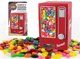 Jelly Bean Vending Machine Delectable CHILDREN'S RED RETRO Sweet Dispenser Vending Machine Snack Jelly