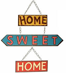 Small Picture Home Sweet Home Retro Hanging Metal Sign Amazoncouk Kitchen Home