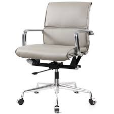 modern office chair leather. Kennedy Office Chair Grey Vegan Leather Modern