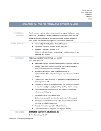 Telephone Sales Representative Resume Samples Regional Sales Representative Online Resume Builders Medium